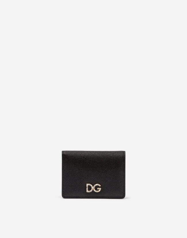 55be4a78db Portacarte Con Logo Cristalli - Accessori Donna | Dolce&Gabbana