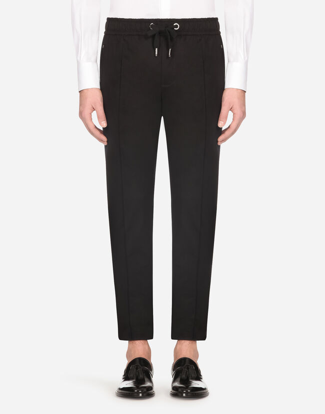 Dolce & Gabbana JOGGING PANTS IN STRETCH COTTON