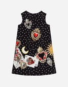A-LINE DRESS IN PRINTED COTTON