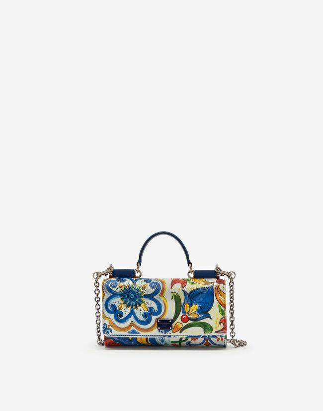 Dolce&Gabbana VON BAG IN PRINTED DAUPHINE CALFSKIN