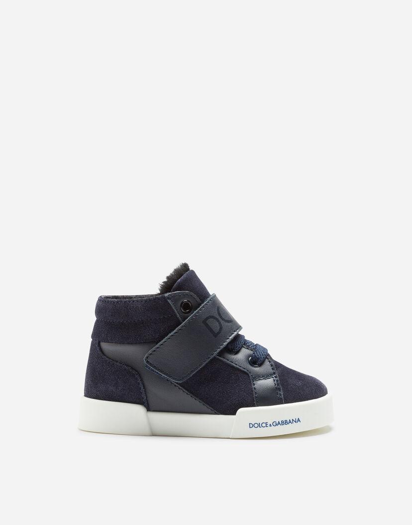 on sale 101e1 fbf05 Schuhe für die ersten Schritte für Jungen   Dolce&Gabbana - HIGH TOP  SNEAKER PORTOFINO LIGHT AUS SPALTLEDER