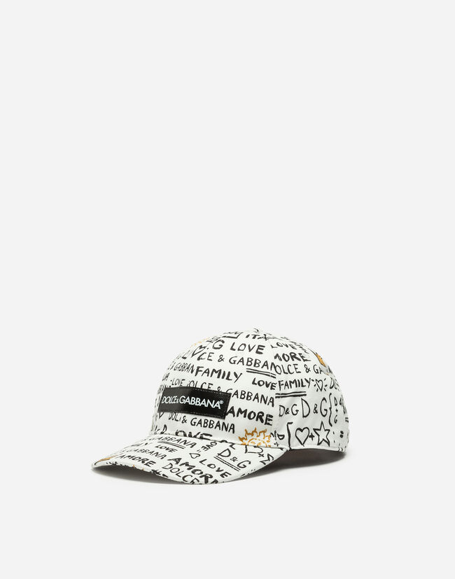 PRINTED BASEBALL CAP WITH PATCH