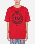 Dolce & Gabbana T-SHIRT IN COTTON WITH PRINT