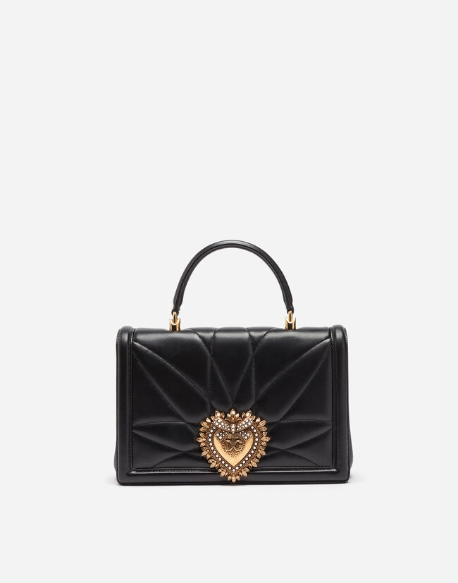Dolce&Gabbana LARGE DEVOTION BAG IN QUILTED LEATHER