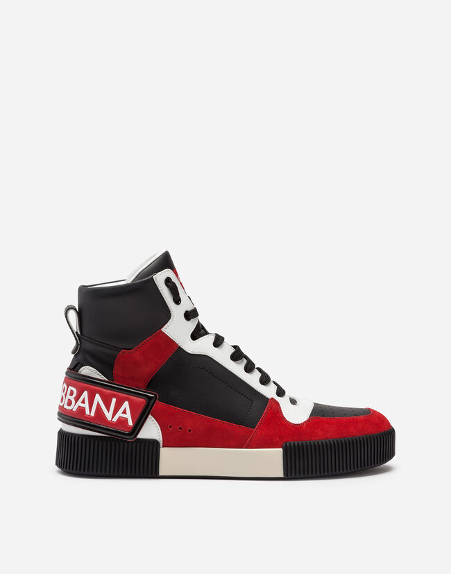 318d5ed416c HIGH TOP SNEAKERS IN MIXED MATERIALS