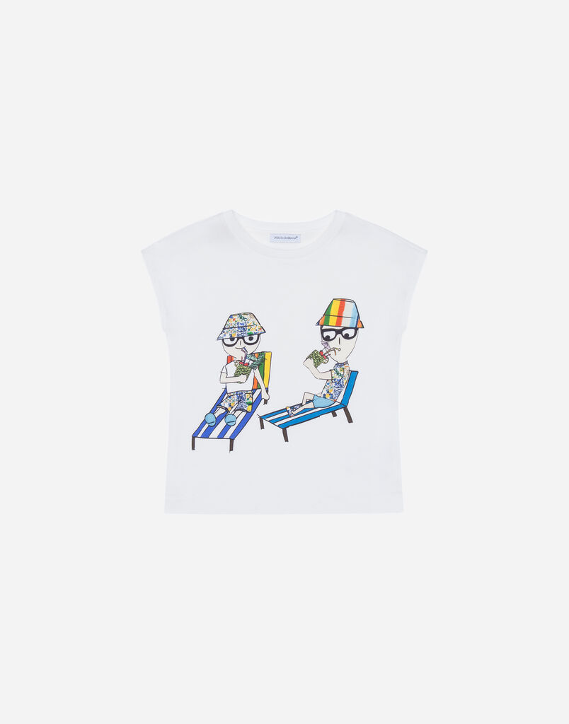 Dolce&Gabbana COTTON T-SHIRT WITH PRINT