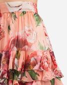 Dolce & Gabbana PEONY-PRINT SILK SKIRT