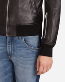 BOMBER JACKET IN LAMBSKIN LEATHER