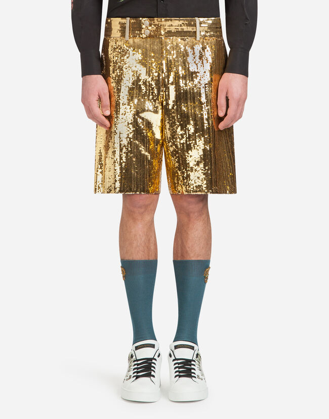 SEQUINED BERMUDA SHORTS