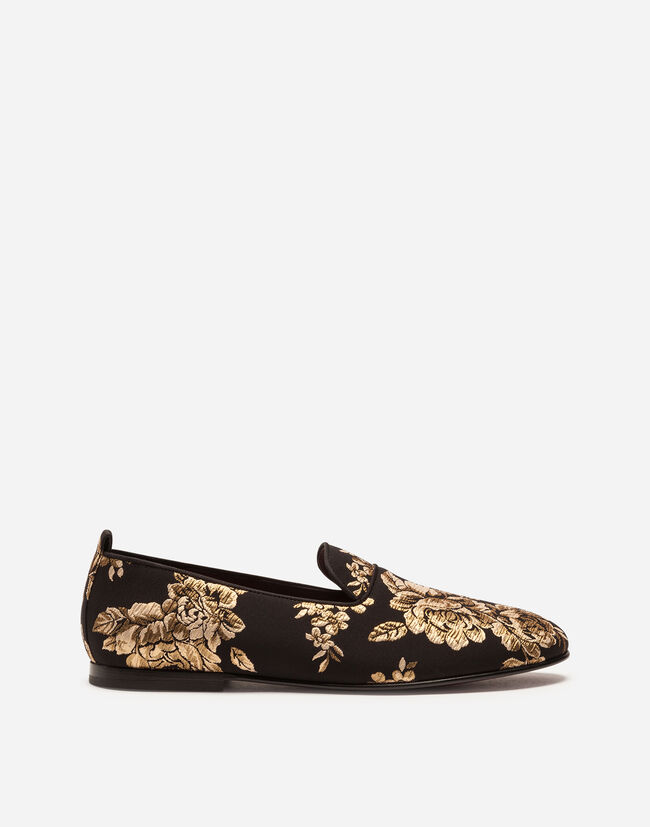 Dolce & Gabbana LUREX JACQUARD SLIPPERS