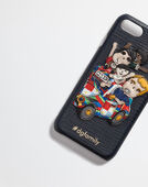 COVER FOR IPHONE 7 IN LEATHER WITH DG Family PATCH