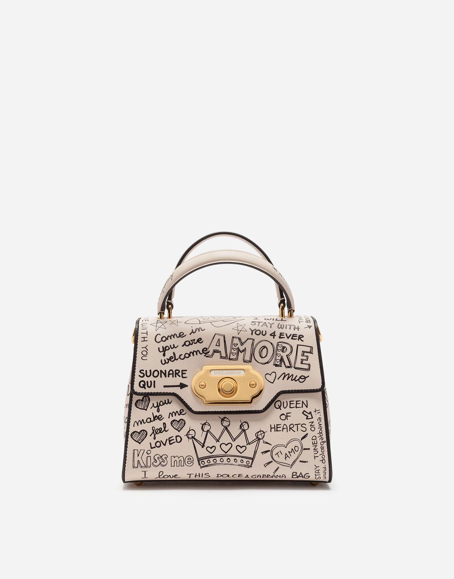 ca72824ff62c Dolce   Gabbana Medium Welcome Leather Satchel - Ivory In White