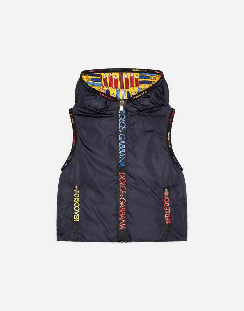 sports shoes a7111 c9ec1 Jacken und Mäntel für Jungen | Dolce&Gabbana - ÄRMELLOSE DAUNENJACKE MIT  KAPUZE