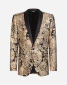 Dolce & Gabbana TUXEDO BLAZER IN LUREX JACQUARD