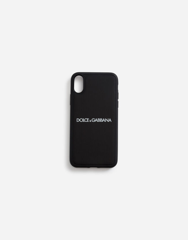 save off 4c6ec 9fe48 CALFSKIN IPHONE X COVER WITH LOGO PRINT