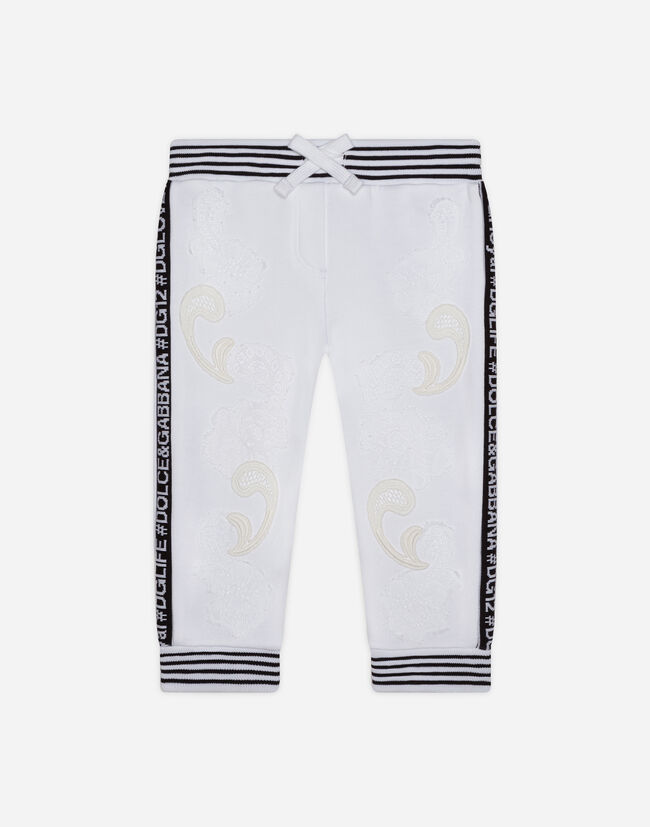 Dolce & Gabbana JOGGING PANTS IN VELVET