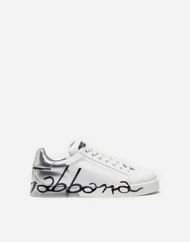 Dolce&Gabbana PORTOFINO SNEAKERS IN LEATHER AND PATENT