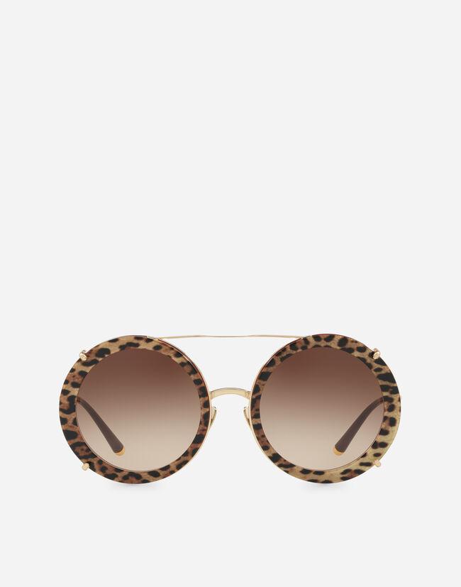 Women\'s Sunglasses | Dolce&Gabbana - ROUND SUNGLASSES IN GOLD METAL ...