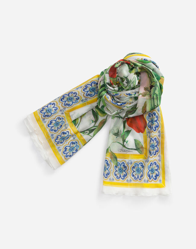 PRINTED CREPE SCARF 120 x 200 cm – 47.2 x 78.7 inches