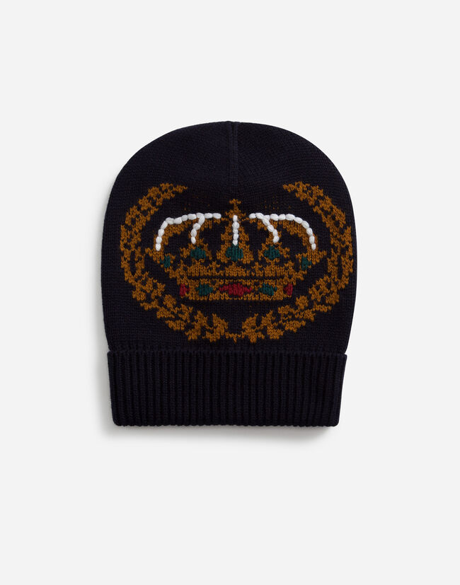 HAT IN INLAID CASHMERE AND WOOL WITH EMBROIDERY