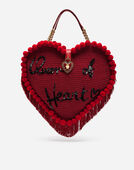 HEART-SHAPED BAG WITH HAND EMBROIDERY