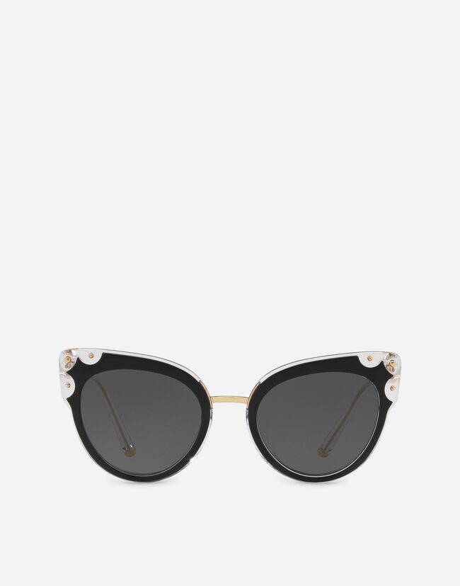 CAT-EYE ACETATE SUNGLASSES WITH METAL DETAILS