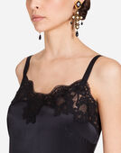Dolce&Gabbana TOP IN SATIN WITH LACE DETAIL