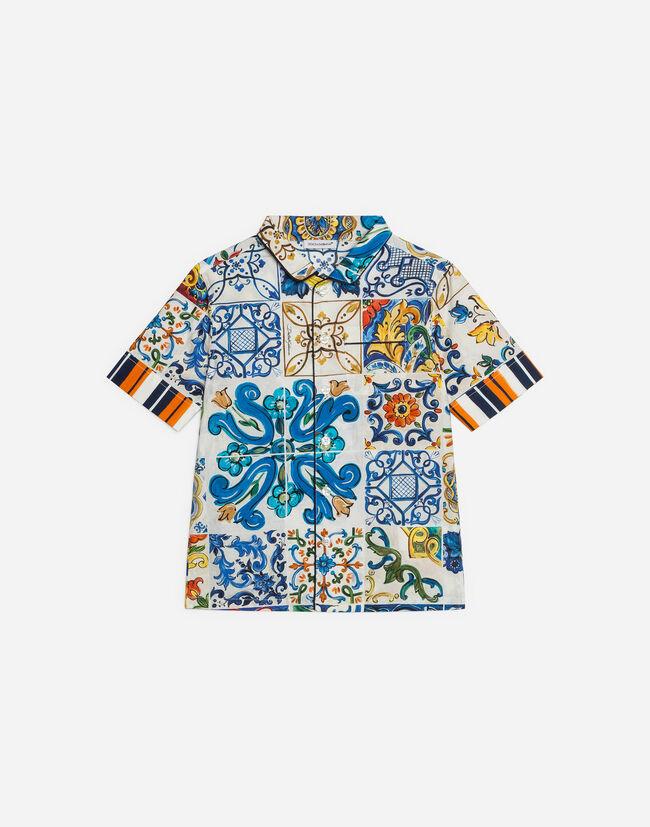 Dolce&Gabbana PRINTED COTTON SHIRT