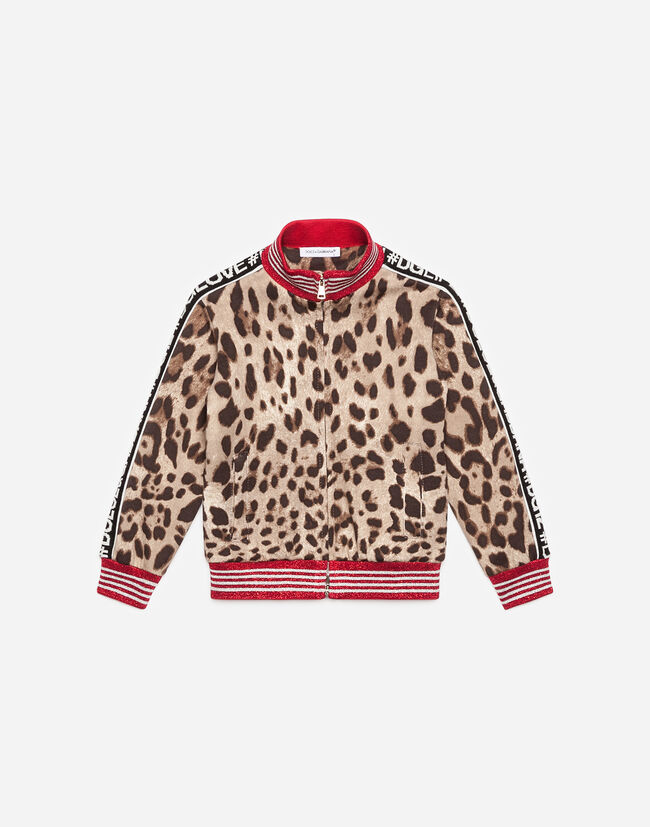Dolce & Gabbana SWEATSHIRT IN PRINTED COTTON