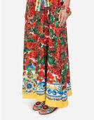 Dolce&Gabbana DRESS IN PRINTED SILK