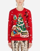 Dolce & Gabbana SWEATER IN CASHMERE WITH INLAY