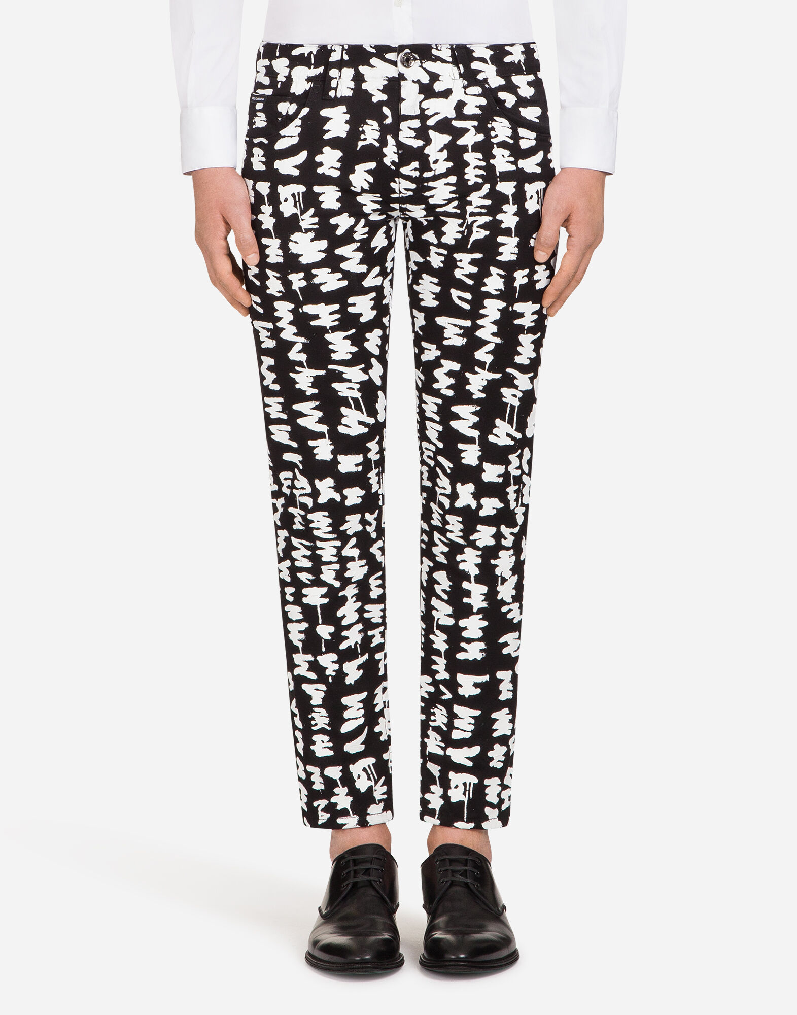 PRINTED CLASSIC FIT JEANS from DOLCE & GABBANA