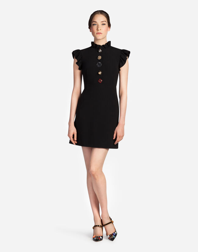 DRESS UN CADY WITH JEWELED BUTTONS