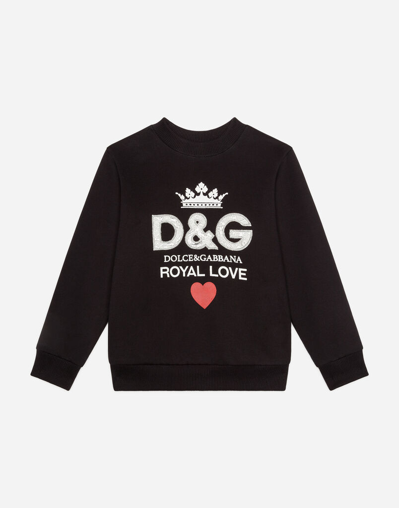 Dolce&Gabbana POLYESTER SWEATSHIRT WITH PATCH