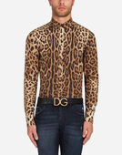 CAPRI FIT SHIRT IN LEOPARD PRINT COTTON