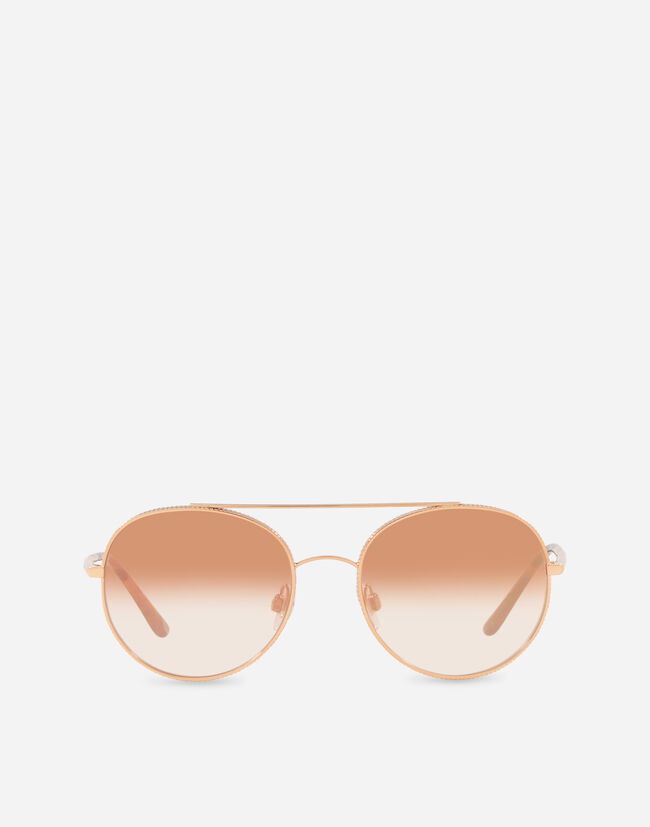ROUND SUNGLASSES WITH GROS GRAIN DECORATION