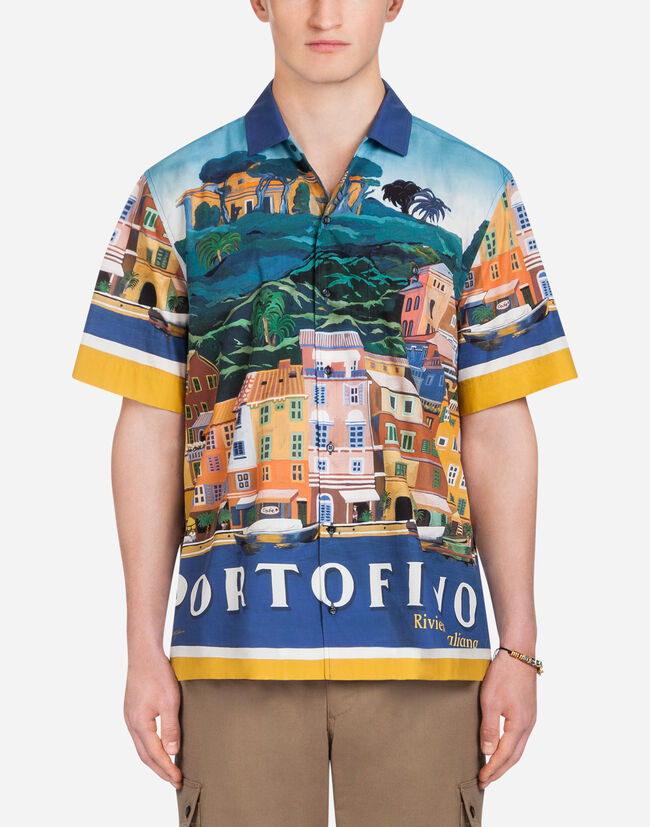 Dolce&Gabbana HAWAII FIT SHIRT IN PRINTED COTTON