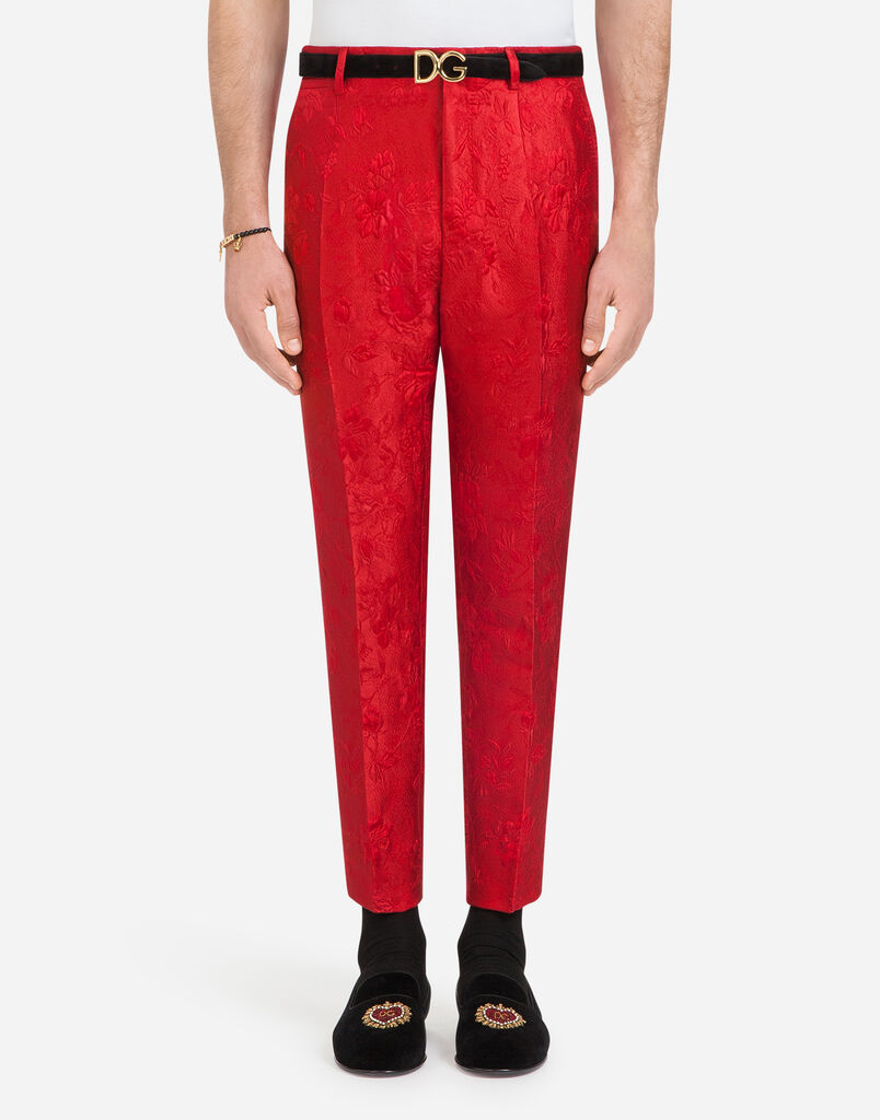PANTS IN COTTON JACQUARD