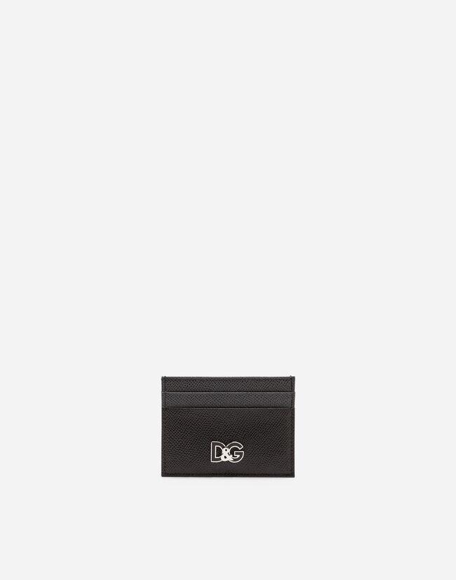 TWO-TONE DAUPHINE CALFSKIN CARD HOLDER