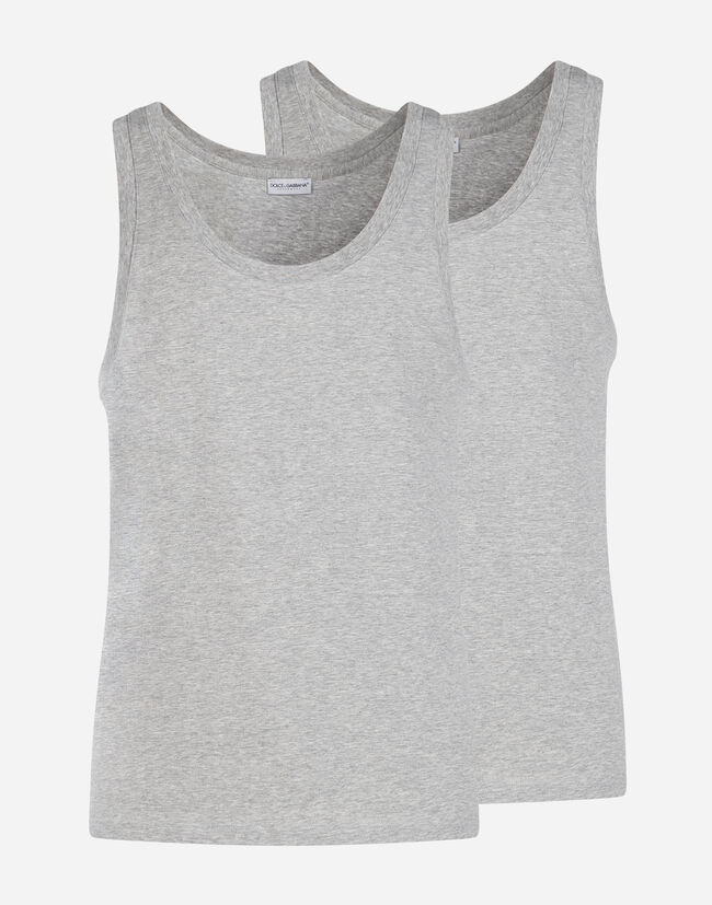 SET OF 2 COTTON TANKS