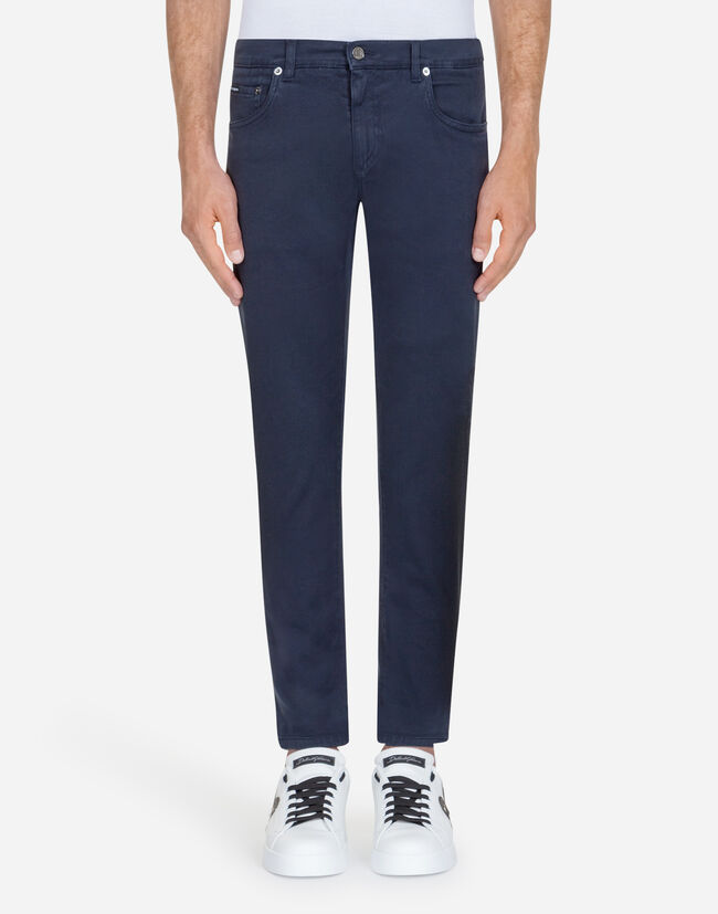 FIVE-POCKET PANTS IN STRETCH COTTON