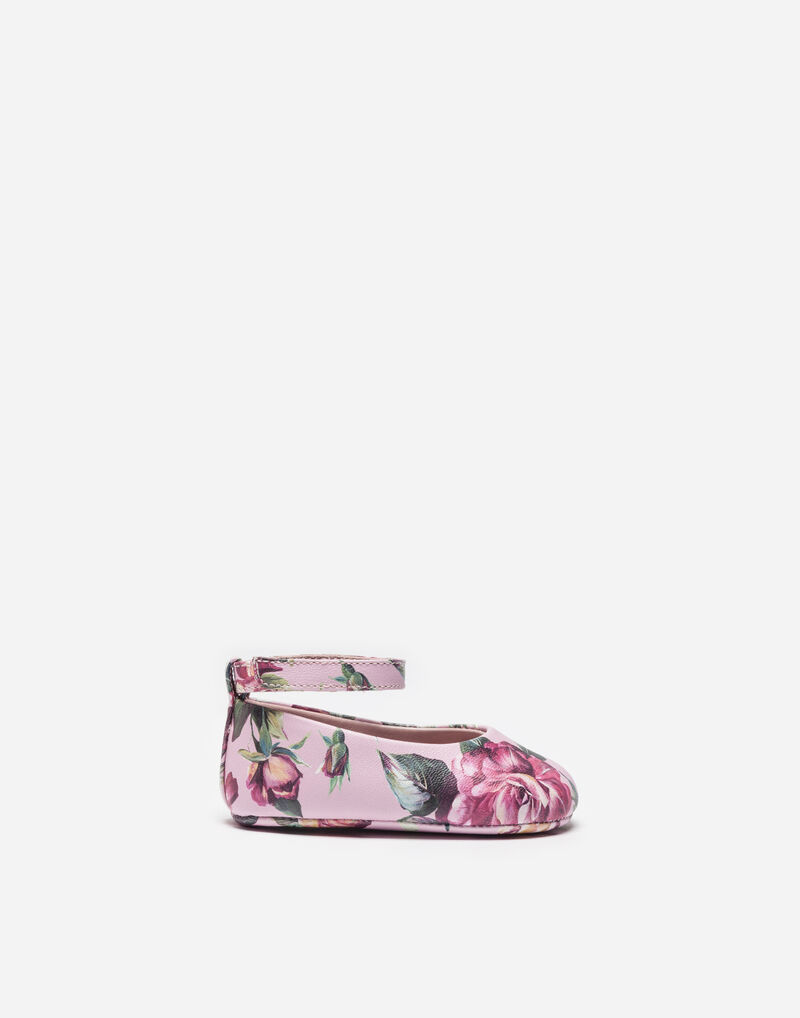 PRINTED LEATHER BALLET FLATS