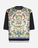 PRINTED SILK SWEATSHIRT