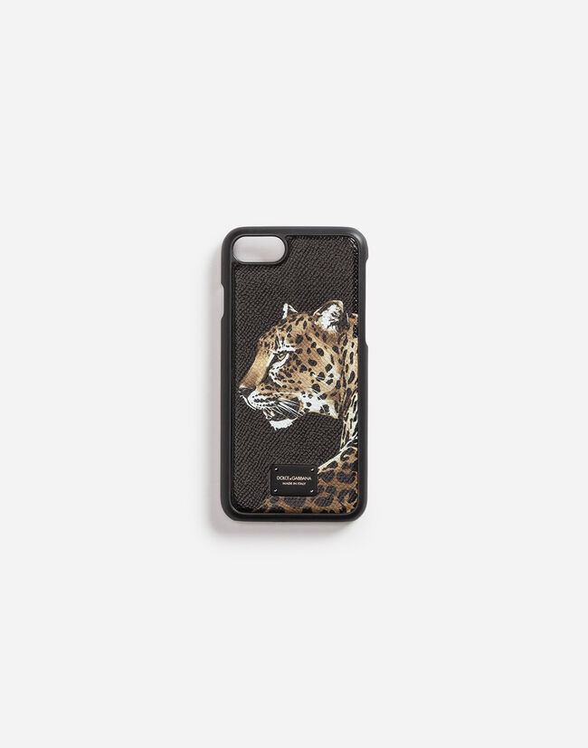 IPHONE 7 COVER IN PRINTED DAUPHINE CALFSKIN DETAIL