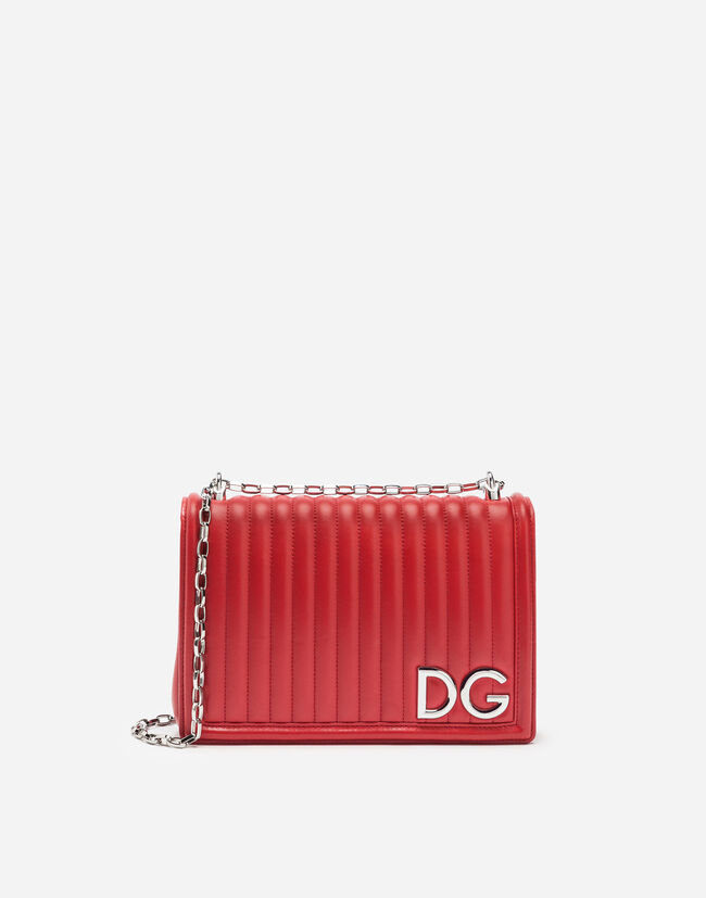 DG GIRLS CROSS-BODY BAG IN QUILTED NAPPA LEATHER