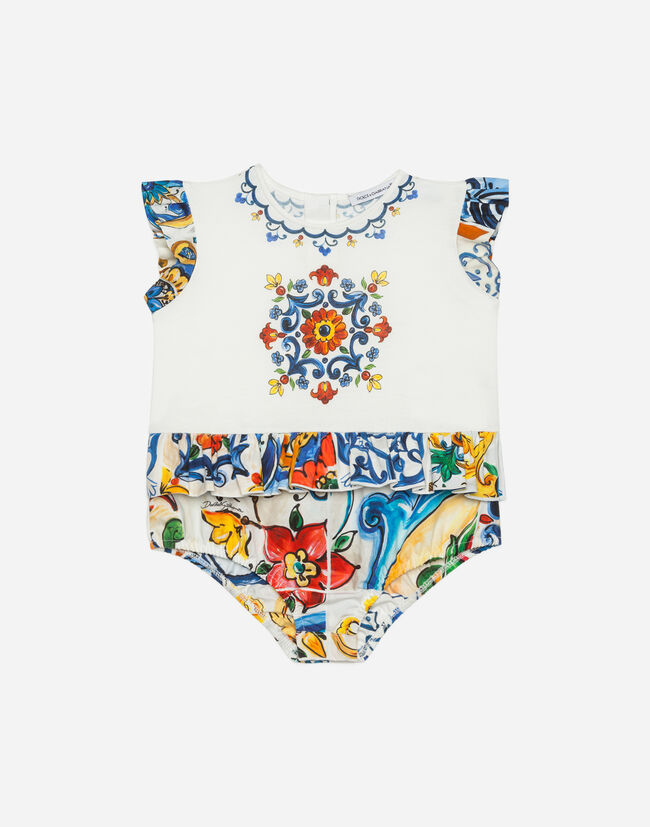 PRINTED COTTON BABYGROW