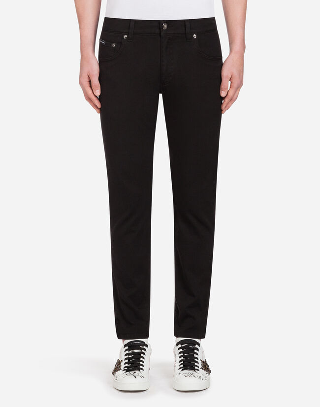 Dolce&Gabbana FIVE-POCKET PANTS IN STRETCH COTTON