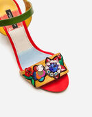 Dolce&Gabbana SANDALS IN MIXED MATERIALS WITH EMBROIDERY