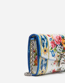 PRINTED DAUPHINE LEATHER DOLCE CLUTCH