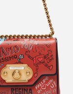 WELCOME SHOULDER BAG IN PRINTED LEATHER